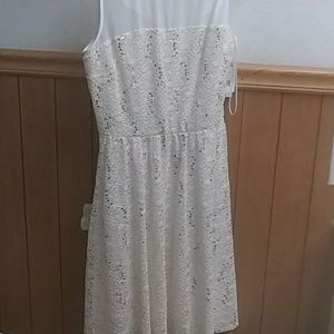 A white dress with glitter
